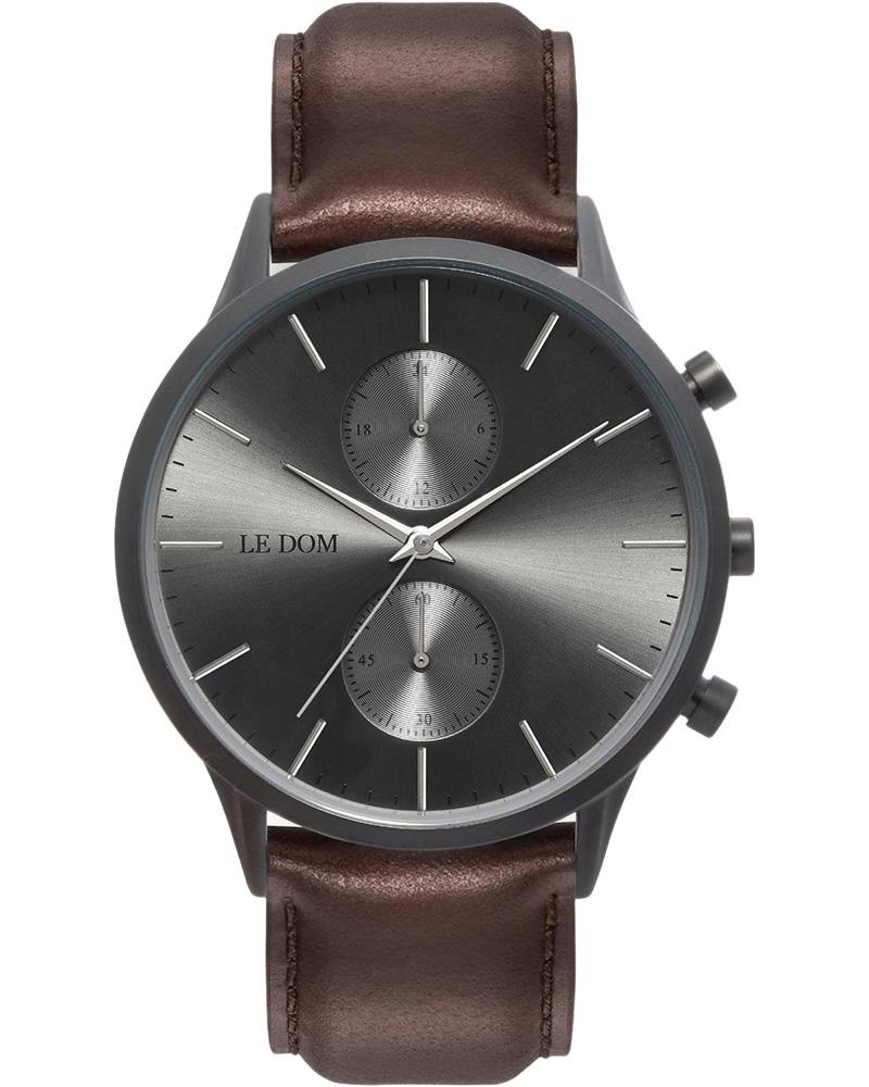 Ρολόι LE DOM Prime Chronograph Brown LD.1002-14   νεεσ αφιξεισ ρολόγια