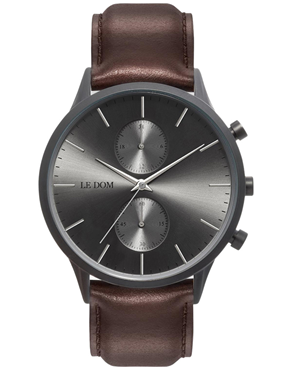 Ρολόι LE DOM Prime Chronograph Brown LD.1002-14