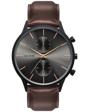 Ρολόι LE DOM Prime Chronograph Brown LD.1002-8