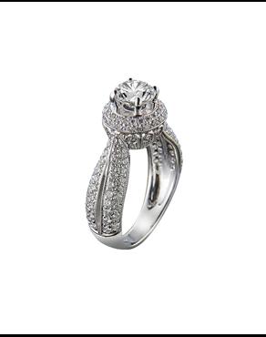 Δαχτυλίδι μονόπετρο λευκόχρυσο Κ18 με διαμάντια 6e8512aa186