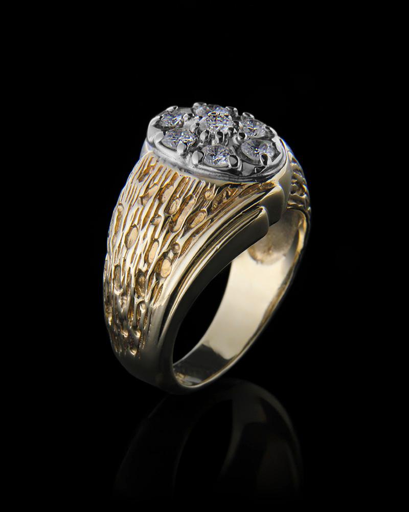 Δαχτυλίδι χρυσό & λευκόχρυσο Κ14 με Διαμάντια   νεεσ αφιξεισ κοσμήματα ανδρικά