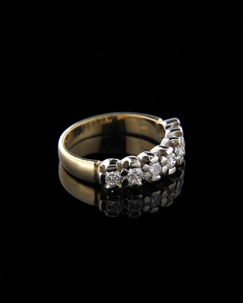 Δαχτυλίδι χρυσό και λευκόχρυσο Κ18 με Διαμάντια   γυναικα δαχτυλίδια δαχτυλίδια διαμάντια