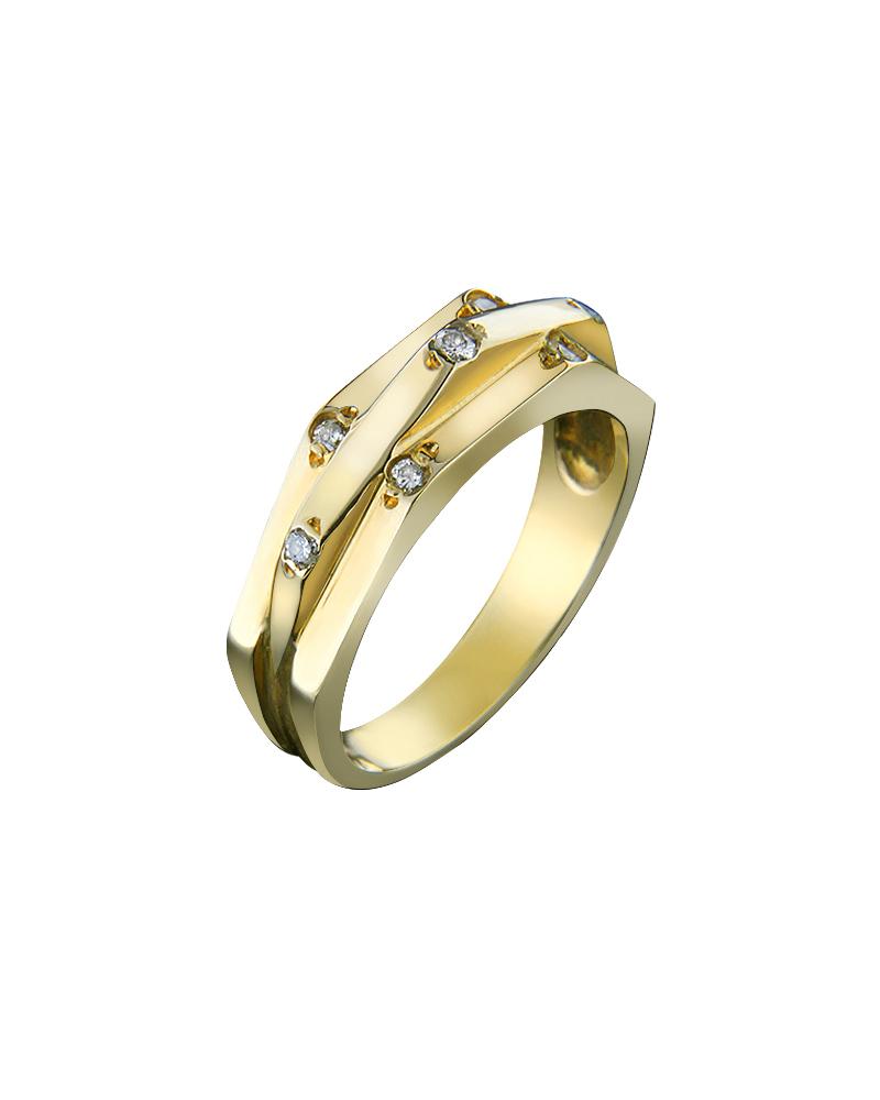 Δαχτυλίδι χρυσό Κ18 με Διαμάντια   γυναικα δαχτυλίδια δαχτυλίδια διαμάντια