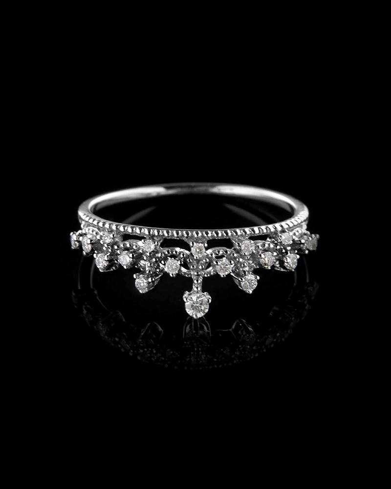 Δαχτυλίδι στέμμα λευκόχρυσο Κ18 με Διαμάντια   γυναικα δαχτυλίδια δαχτυλίδια λευκόχρυσα