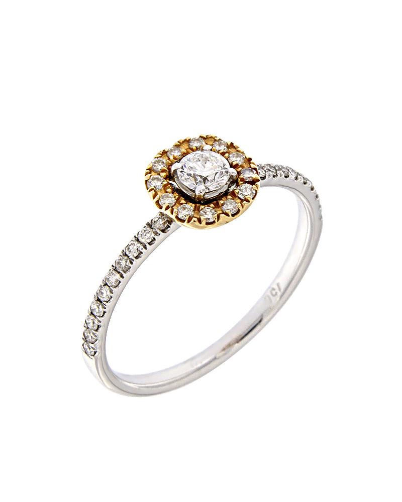 Δαχτυλίδι μονόπετρο λευκόχρυσο και ροζ χρυσό Κ18 με Διαμάντια   ζησε το μυθο μονόπετρα μονοπετρα με διαμάντια
