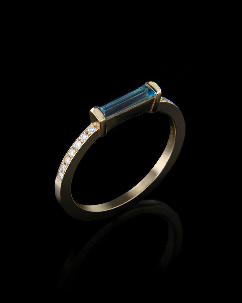 Δαχτυλίδι ροζ χρυσό Κ18 με Διαμάντια και Τουρμαλίνη   κοσμηματα δαχτυλίδια δαχτυλίδια με διαμάντια