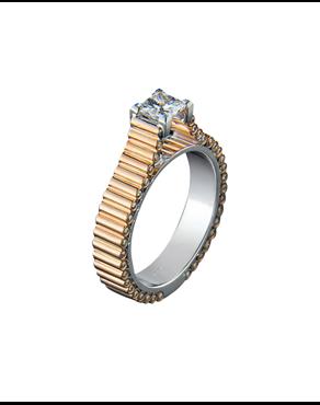 Δαχτυλίδι μονόπετρο ροζ   λευκό χρυσό Κ18 με διαμάντια 6c098eba848