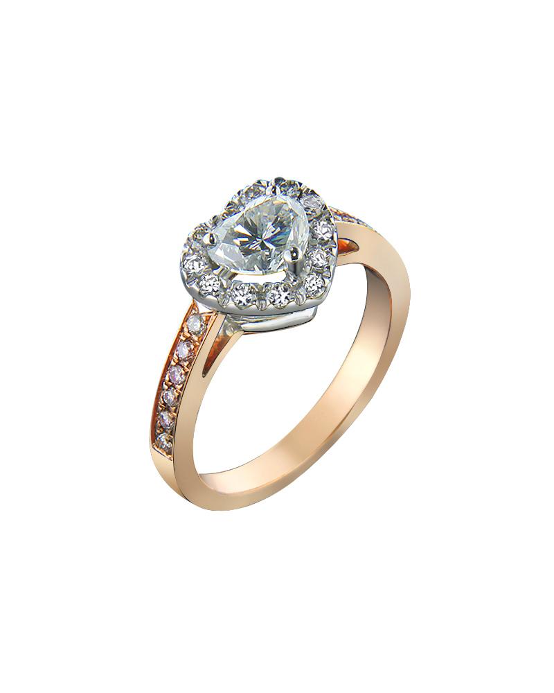 Δαχτυλίδι Με Διαμάντια Ροζ Χρυσό Κ18   γυναικα δαχτυλίδια μονόπετρα με διαμάντια