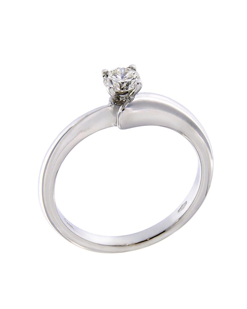 Δαχτυλίδι μονόπετρο λευκόχρυσο Κ18 με Διαμάντι   γαμοσ μονόπετρα μονοπετρα με διαμάντια