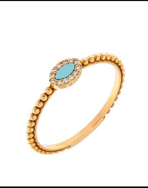 Δαχτυλίδι ροζ χρυσό Κ18 με Διαμάντια 554ac065055
