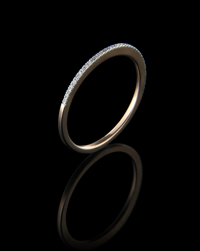 Δαχτυλίδι σειρέ ροζ χρυσό Κ14 με Διαμάντια   γυναικα δαχτυλίδια δαχτυλίδια διαμάντια