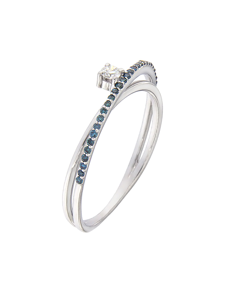 Δαχτυλίδι μονόπετρο λευκόχρυσο Κ18 με Διαμάντια   γυναικα δαχτυλίδια δαχτυλίδια διαμάντια