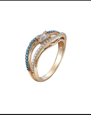 Δαχτυλίδι ροζ χρυσό Κ18 με διαμάντια a9c57f14268