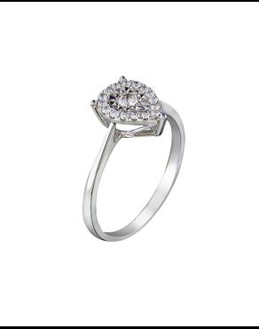 628a00ec3317 Δαχτυλίδι δάκρυ μονόπετρο λευκόχρυσο Κ18 με Διαμάντια
