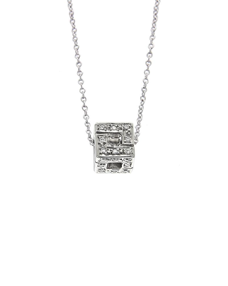 Κολιέ λευκόχρυσο Κ18 με Διαμάντια   νεεσ αφιξεισ κοσμήματα γυναικεία