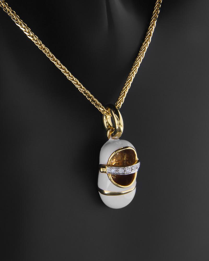 Κρεμαστό χρυσό Κ18 με Διαμάντια   νεεσ αφιξεισ κοσμήματα γυναικεία