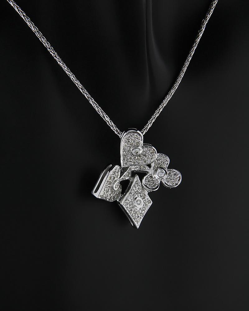 Κρεμαστό λευκόχρυσο Κ18 με Διαμάντια   νεεσ αφιξεισ κοσμήματα γυναικεία