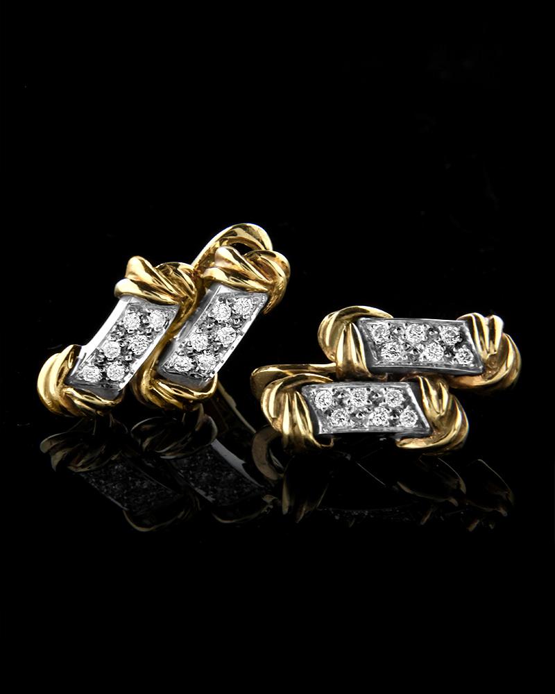Σκουλαρίκια χρυσά Κ18 με Διαμάντια   γυναικα σκουλαρίκια σκουλαρίκια χρυσά