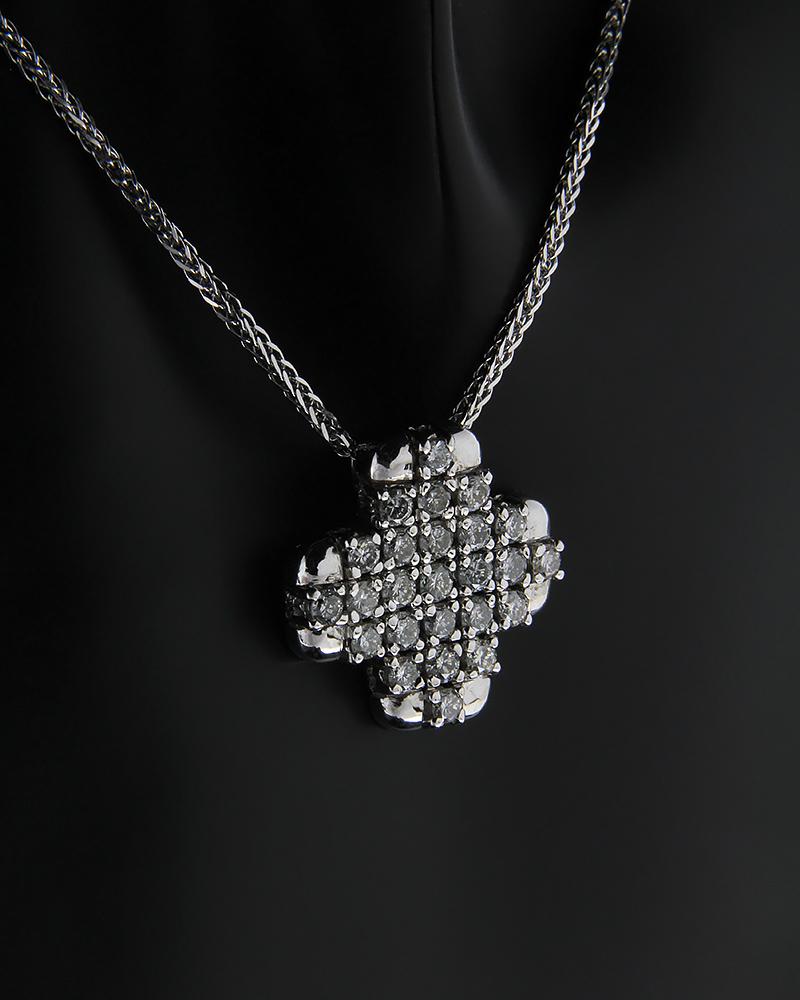 Σταυρός λευκόχρυσος Κ18 με Διαμάντια   γυναικα σταυροί γυναικείοι σταυροί με διαμάντια