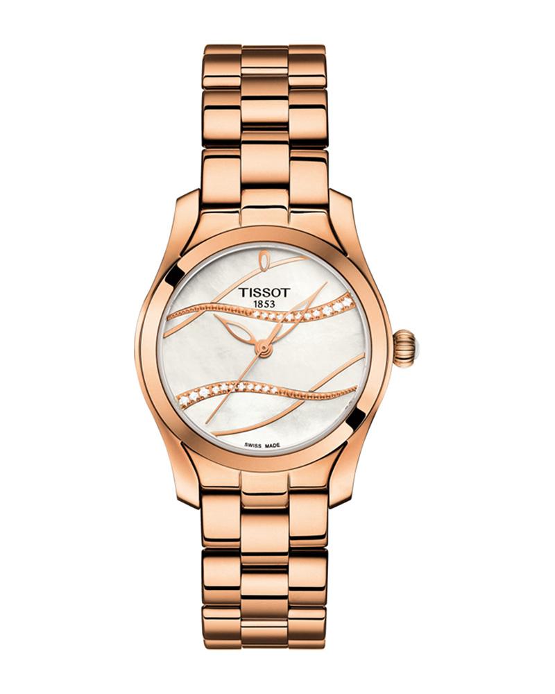 TISSOT T-Lady T-Wave Rose Gold T1122103311100   brands tissot