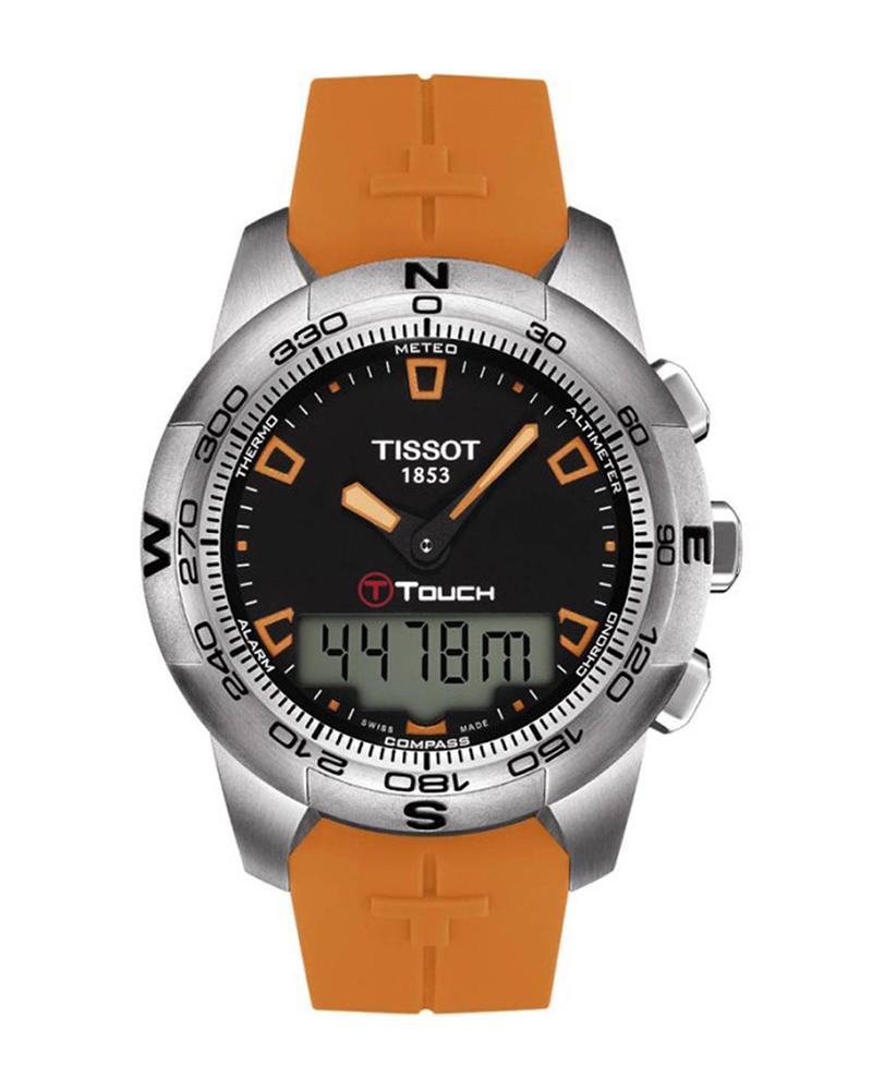 Ρολόι TISSOT T-TOUCH II Orange T0474201705101   brands tissot