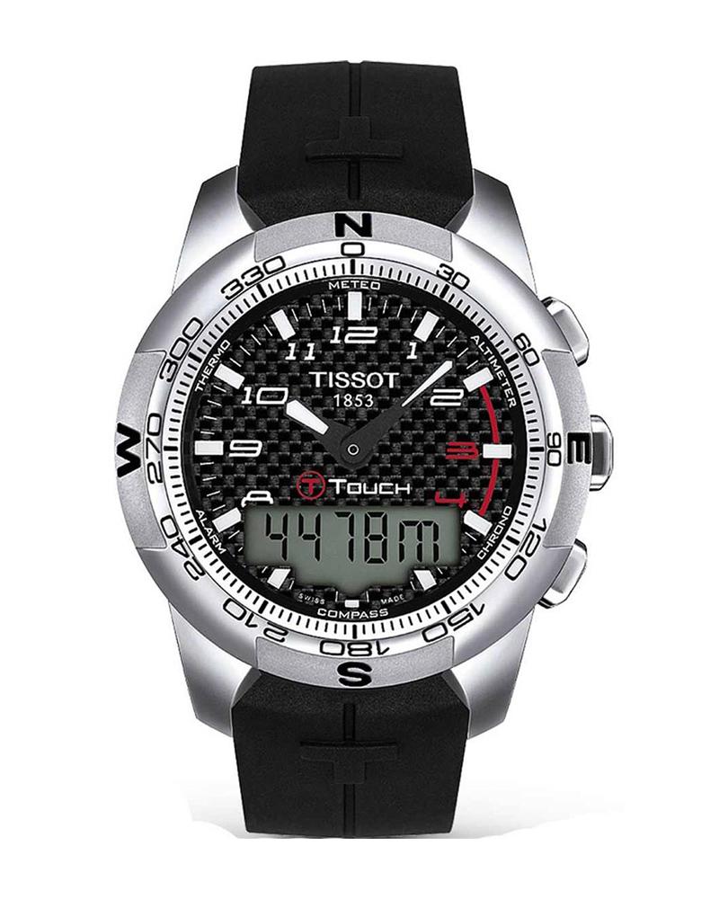Ρολόι TISSOT TOUCH II Titanium Black T0474204720700   brands tissot