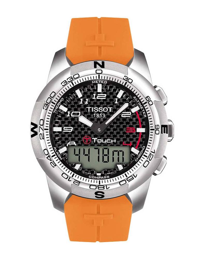 Ρολόι TISSOT T-TOUCH II Titanium Orange T0474204720701   brands tissot