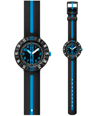 Ρολόι FLIK FLAK Sunny Hours Blue Ahead Black ZFCSP031