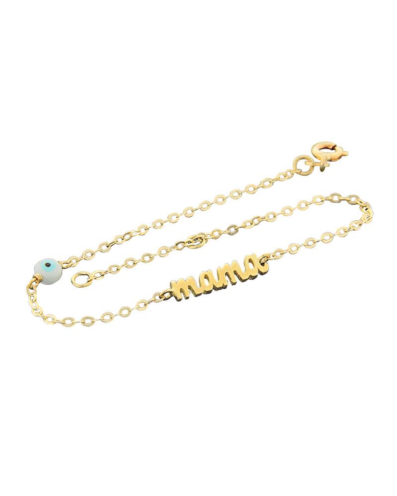 Βραχιόλι mama χρυσό Κ14   κοσμηματα κοσμήματα για τη μαμά