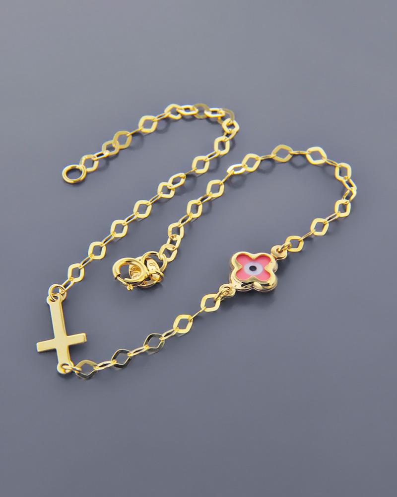 Βραχιόλι Χρυσό Κ9 Με Ματάκι   νεεσ αφιξεισ κοσμήματα παιδικά