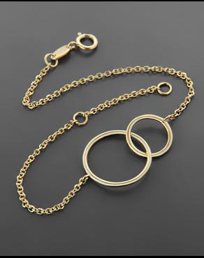 Βραχιόλι ενωμένοι κύκλοι χρυσό Κ14 d18c20216d4
