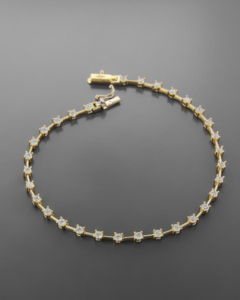 Βραχιόλι Κίτρινο Χρυσό Κ14 Με Ζιργκόν   νεεσ αφιξεισ κοσμήματα γυναικεία