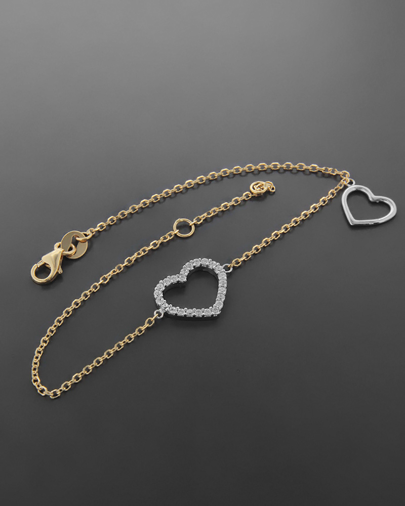 Βραχιόλι Κίτρινο Χρυσό κ Λευκόχρυσο Κ14   νεεσ αφιξεισ κοσμήματα γυναικεία