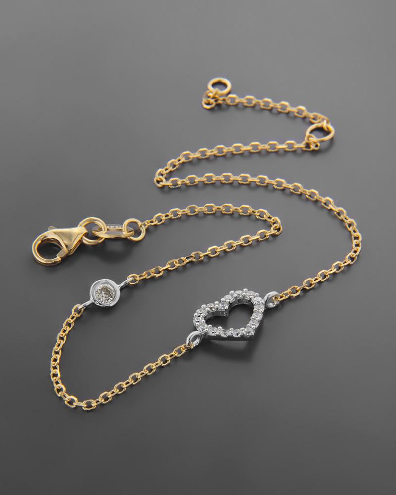 Βραχιόλι Κίτρινο κ Λευκόχρυσο με Ζιργκόν Κ14   νεεσ αφιξεισ κοσμήματα γυναικεία