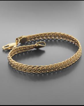 Βραχιόλι Κίτρινο Χρυσό Κ14 2a28e817983