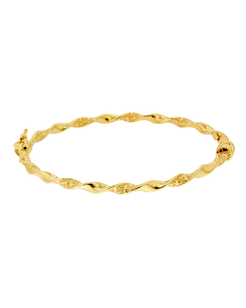 Βραχιόλι χειροπέδα χρυσό Κ14