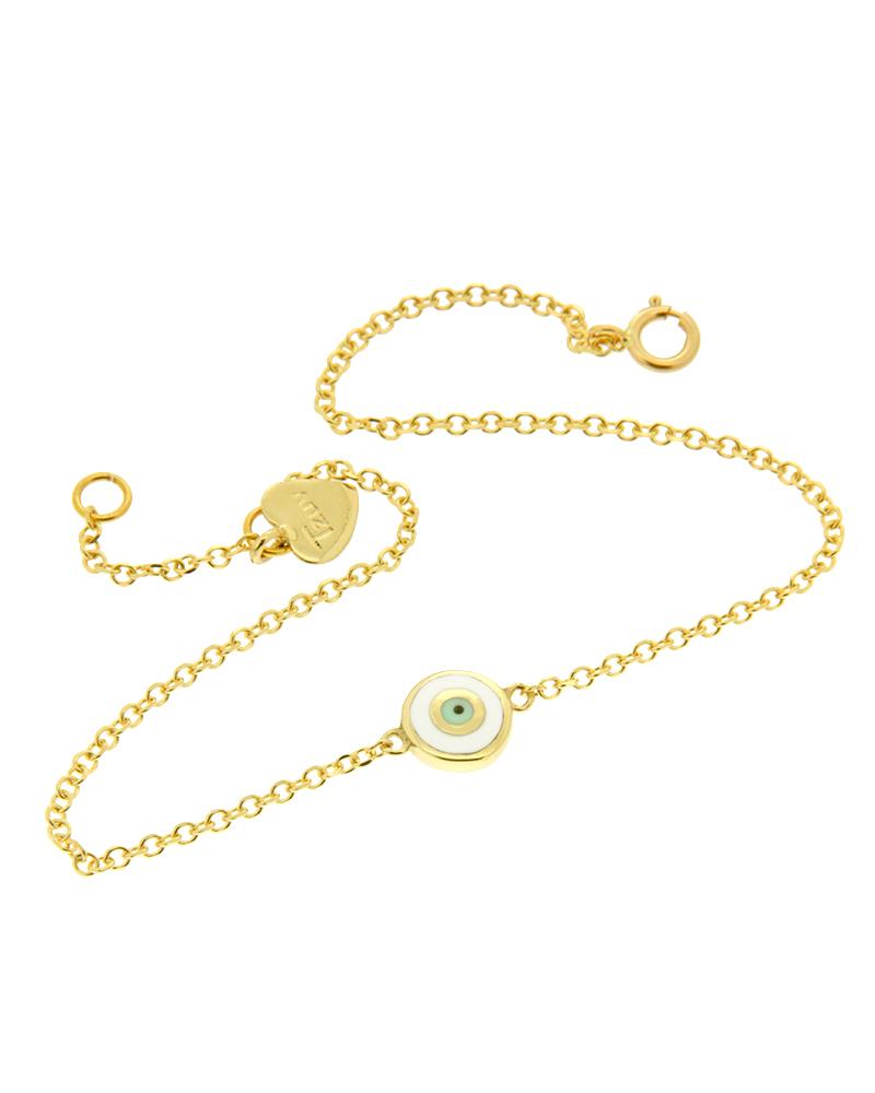 Βραχιόλι με μάτι χρυσό K14 με σμάλτο   γυναικα βραχιόλια βραχιόλια χρυσά
