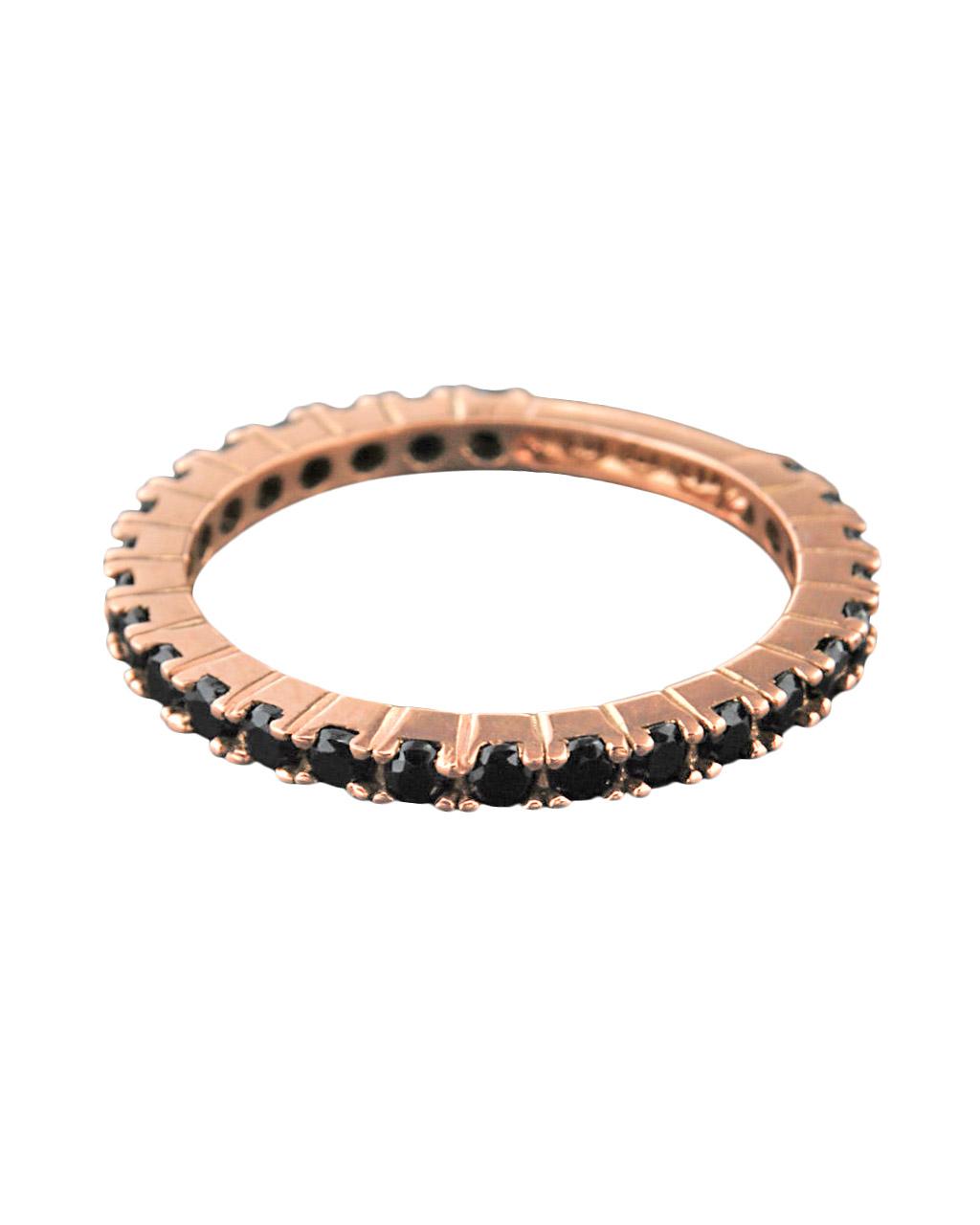 Δαχτυλίδι από ροζ χρυσό Κ14 με Ζιργκόν   γυναικα δαχτυλίδια δαχτυλίδια ροζ χρυσό