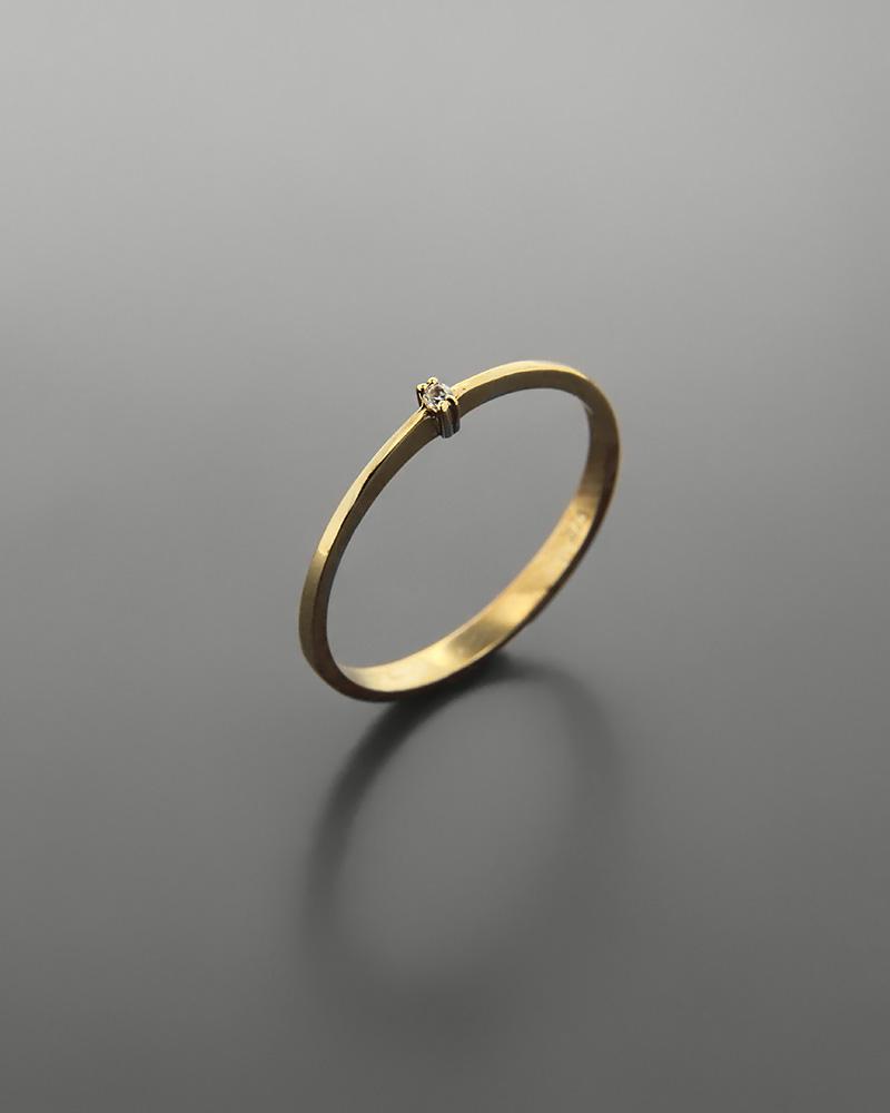 Δαχτυλίδι χρυσό Κ9 με ζιργκόν   νεεσ αφιξεισ κοσμήματα γυναικεία
