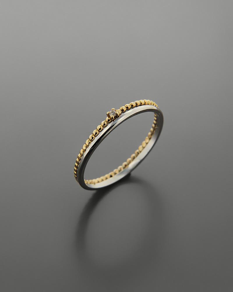 Δαχτυλίδι χρυσό και λευκόχρυσο Κ9 με ζιργκόν   νεεσ αφιξεισ κοσμήματα γυναικεία