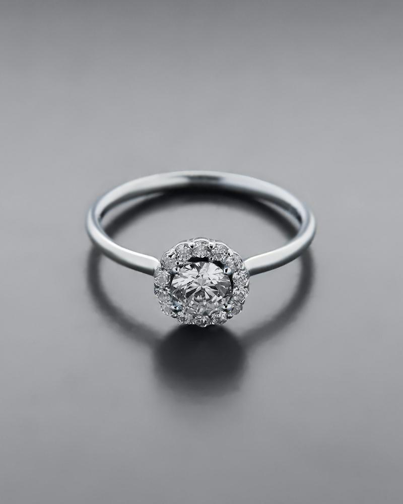 Δαχτυλίδι λευκόχρυσο Κ9 με Ζιργκόν   κοσμηματα δαχτυλίδια μονόπετρα με ζιργκόν
