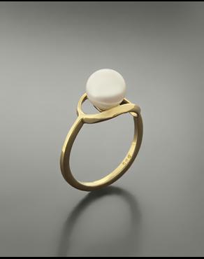 Δαχτυλίδι χρυσό Κ14 με μαργαριτάρι 753bc024135