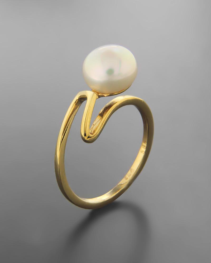 Δαχτυλίδι χρυσό Κ14 με μαργαριτάρι   κοσμηματα δαχτυλίδια δαχτυλίδια μαργαριτάρια