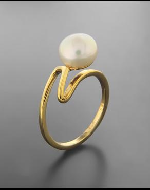 Δαχτυλίδι χρυσό Κ14 με μαργαριτάρι 7bd53bae38a
