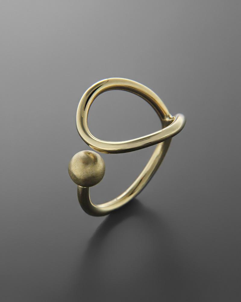 Δαχτυλίδι χρυσό Κ14 με μοτίφ   κοσμηματα δαχτυλίδια δαχτυλίδια fashion