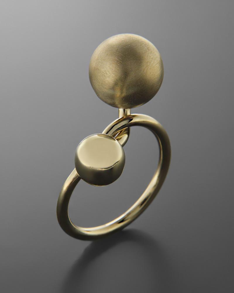 Δαχτυλίδι μπίλιες χρυσό Κ14   κοσμηματα δαχτυλίδια δαχτυλίδια fashion