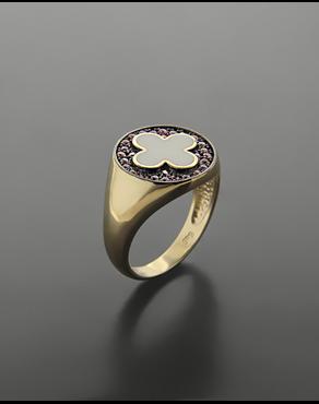 Δαχτυλίδι chevalier σταυρός χρυσό Κ14 με σμάλτο και ζιργκόν fd7fa5871cd