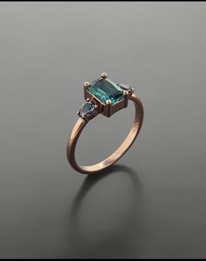 Δαχτυλίδι ροζ χρυσό Κ14 με ζιργκόν b5c98f5f6b8