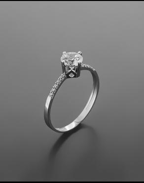 Δαχτυλίδι λευκόχρυσο Κ14 με ζιργκόν 9ad7870ad0a