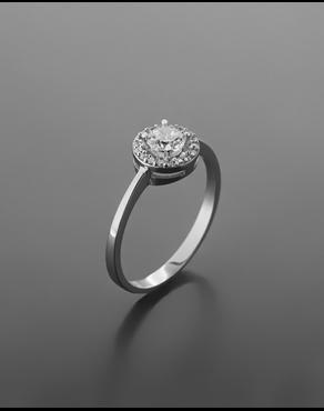 Δαχτυλίδι λευκόχρυσο Κ14 με ζιργκόν 2ee063c544f